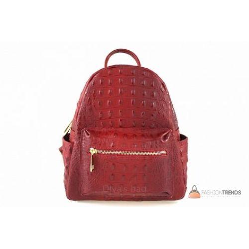 Итальянский кожаный рюкзак DIVAS Zavia S7088 красный