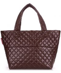 Стеганая сумка PoolParty broadway-quilted-brown