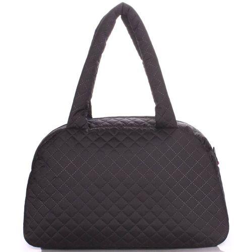 Стеганая сумка-саквояж PoolParty ns4-eco-black