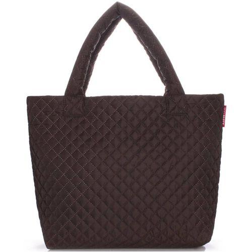Стеганая сумка Poolparty pp1-eco-brown