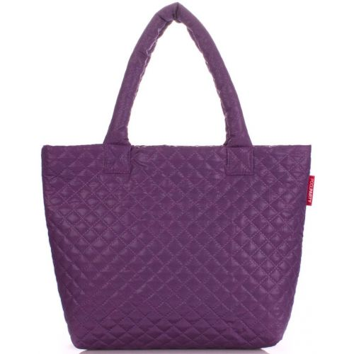 Стеганая сумка PoolParty Eco-1 фиолетовая