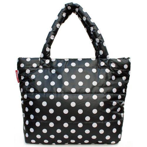 Дутая сумка PoolParty pp4-black-dots