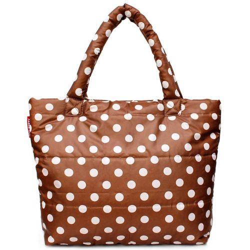 Дутая сумка PoolParty pp4-cappuccino-dots