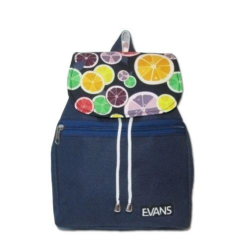 Рюкзак Lily Evans - Citrus синий с дольками цитрусовых