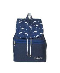 Рюкзак Lily Evans - Dolphins синий с дельфинами
