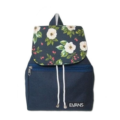 Рюкзак Lily Evans - Flowers синий с цветами