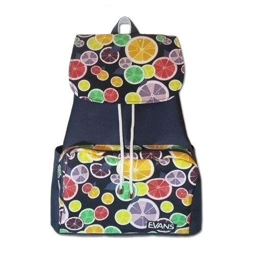 Рюкзак Mary Evans - Citrus синий с дольками цитрусовых