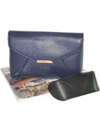 Женская сумка конверт 01544782896407blue синяя