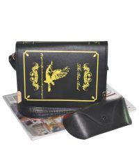 Женская сумка Книжка 01522061607643black черная