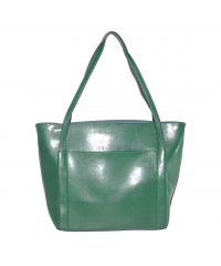Женская сумка с накладным карманом 01552801596834green зеленая