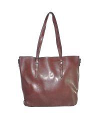 Женская сумка с пряжкой на ручке 01541578609997brown коричневая