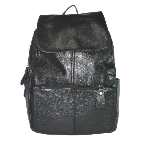 Женский рюкзак с накладным карманом 01536724036026black черный