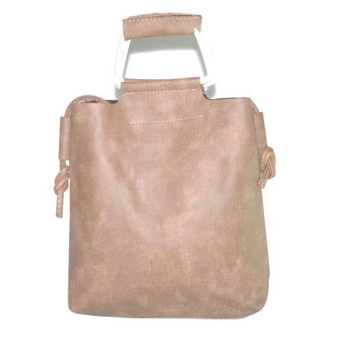 Женская сумка с металлическими ручками 01540888213646pink розовая