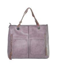 Женская сумка с двумя карманами 01538971049535purple фиолетовая