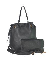 Женская сумка мешок 01538487728532black черная