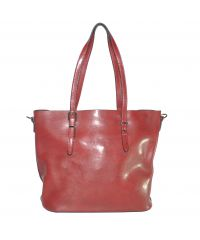 Женская сумка с пряжкой на ручке 01541578609997red красная