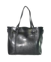 Женская сумка с карманом 01550476632328black черная