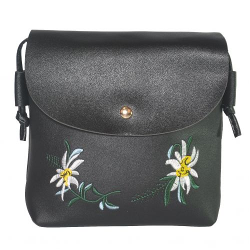 Женский клатч с вышивкой 01552880850661black черный