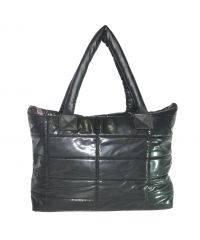 Стеганая сумка лаковая 011297106670black черная