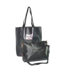 Женская сумка с котиком 01534691450134black черная
