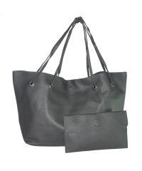 Женская сумка шоппер с клатчем 01537968677984black черная