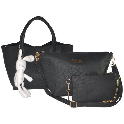 Комплект сумок 3 в 1 с игрушкой зайчик 01534691910267black черный