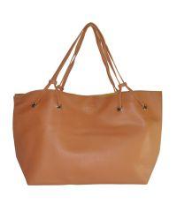 Женская сумка шоппер с клатчем 01537968677984brown коричневая
