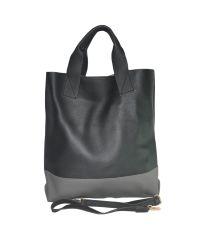 Женская сумка шоппер 01543780886781black черная с серым