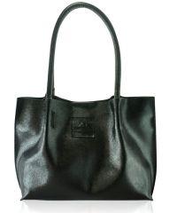 Кожаная сумка 827 Safyan черная