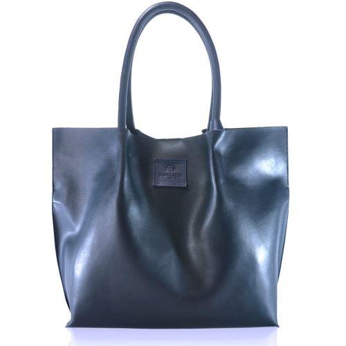 Женская кожаная сумка 828 темно-синяя