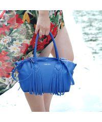 Кожаная сумка Bordo синяя