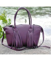 Кожаная сумка Bordo лиловая