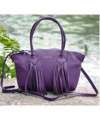 Кожаная сумка Bordo фиолетовая