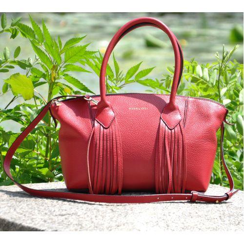 Кожаная сумка Bordo красная