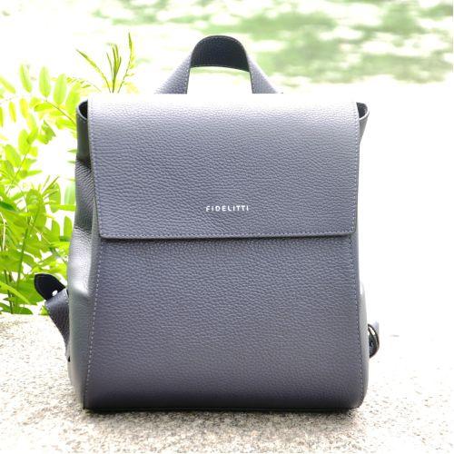 Кожаный рюкзак Fidelta синий океан