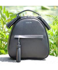 Кожаный рюкзак Fidelta черный