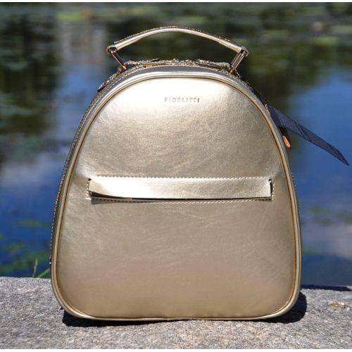 Кожаный рюкзак Fidelta золотой