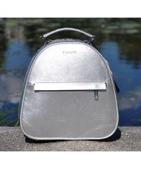 Кожаный рюкзак Fidelta серебристый