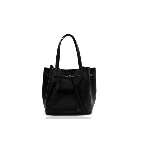 Кожаная сумка B.0024 черная
