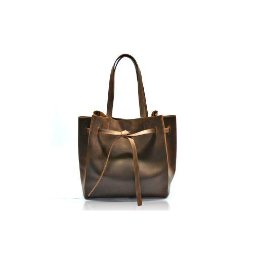 Кожаная сумка B.0024 коричневая