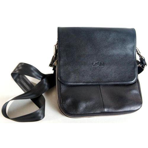 Кожаная сумка Венисон 432 черная