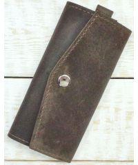 Кожаная ключница A.0001-CH коричневая