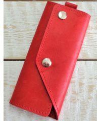 Кожаная ключница A.0005-ALI красная