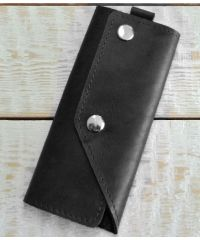 Кожаная ключница A.0005-CH черная