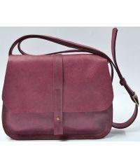 Кожаная сумка B.0001-ALI фиолетовая