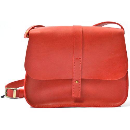 Кожаная сумка B.0001-ALI красная