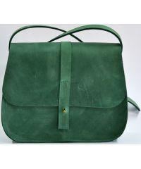 Кожаная сумка B.0001-ALI зеленая
