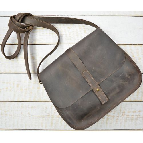 Кожаная сумка B.0001-CH коричневая