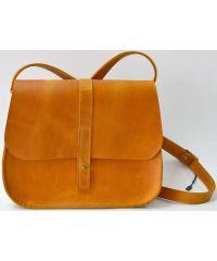 Кожаная сумка B.0001-CH рыжая