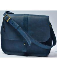 Кожаная сумка B.0001-CH синяя